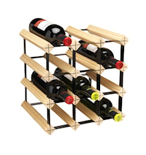 Metro Natural Wooden Wine Rack Kit - 12 Bottle
