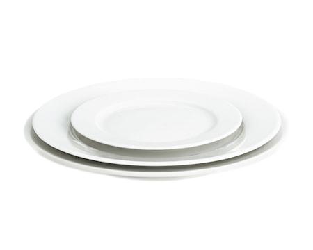 Sancerre tallrik flat vit, Ø 24 cm