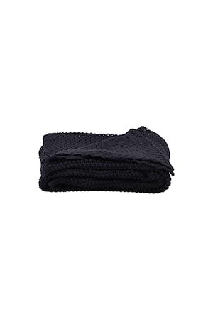 Filt Solid 170x130 cm - Blå/svart