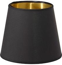 Cia Topringsskærm Sort/Guld 20cm