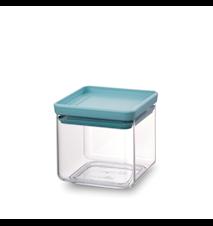 Firkantet Oppbevaringsboks 0,7 L Transparant / Mint lokk