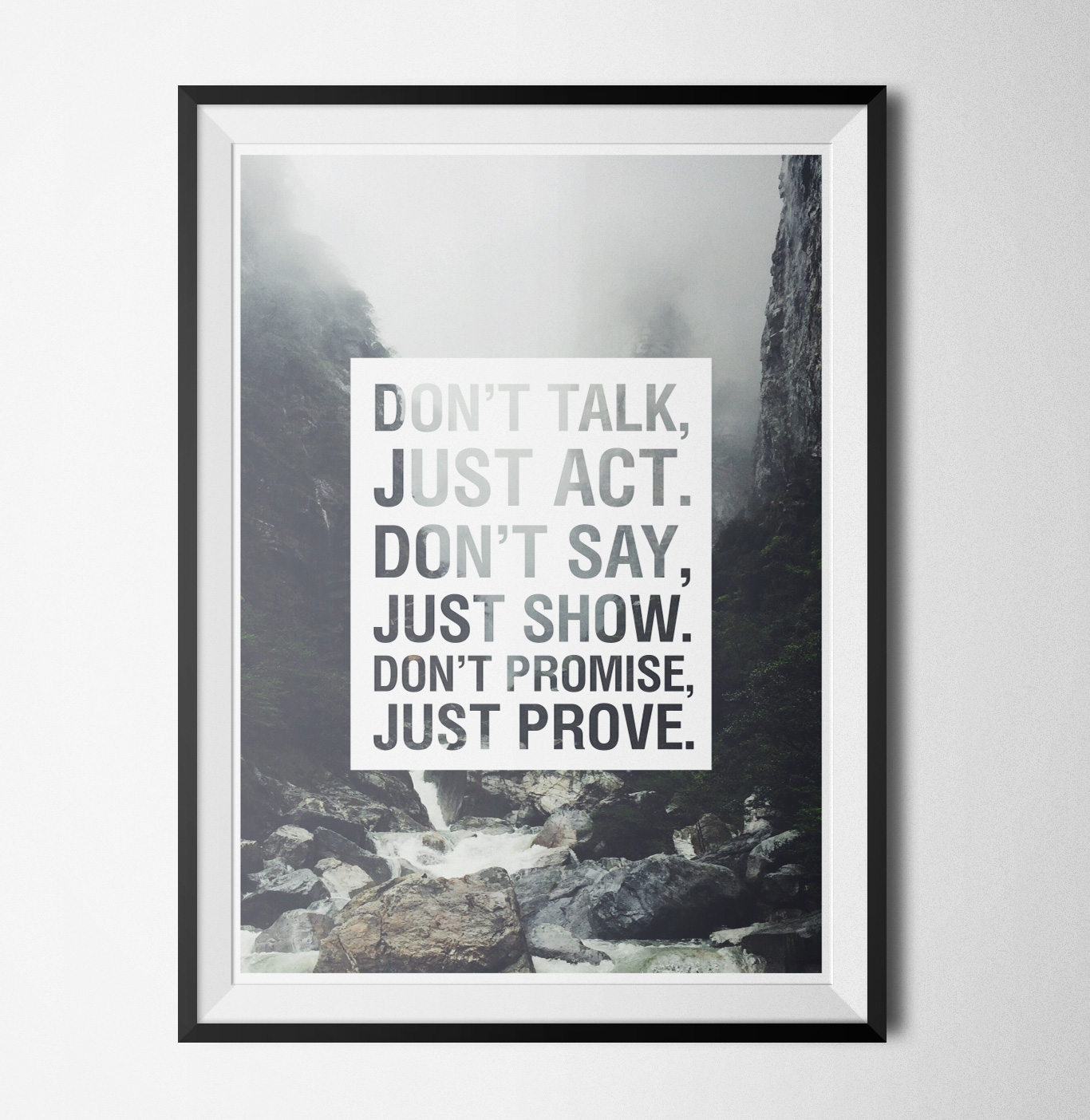Don't and just poster