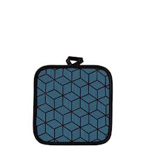Grytlapp Polyester/Bomull Petrol 20x20 cm