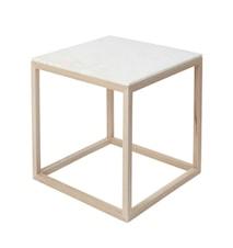 Cube Sidobord Medium Marmor - Ek