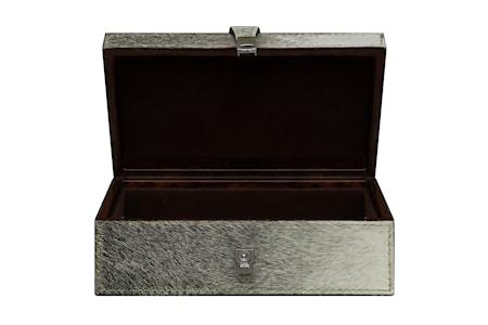 Box, pälsklädd med inredning i velour
