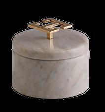 Hemera light ask - Ljus marmor, Greek Key, Stor