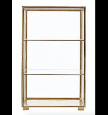 Kabinett 56,6x35x35 cm - Glas/mässing