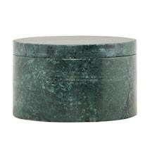 Förvaringsburk Marble Ø 10x6 cm - Grön