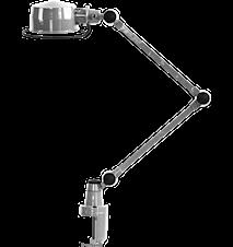 Lak L4040 Klämlampa 40+40 cm - Matt