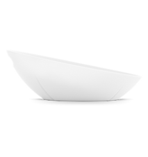 GC Brödkorg, vit, melamin, inkl. duk, dimgrå