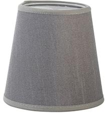 Queen Lampeskjerm Silke Lysgrå 12 cm