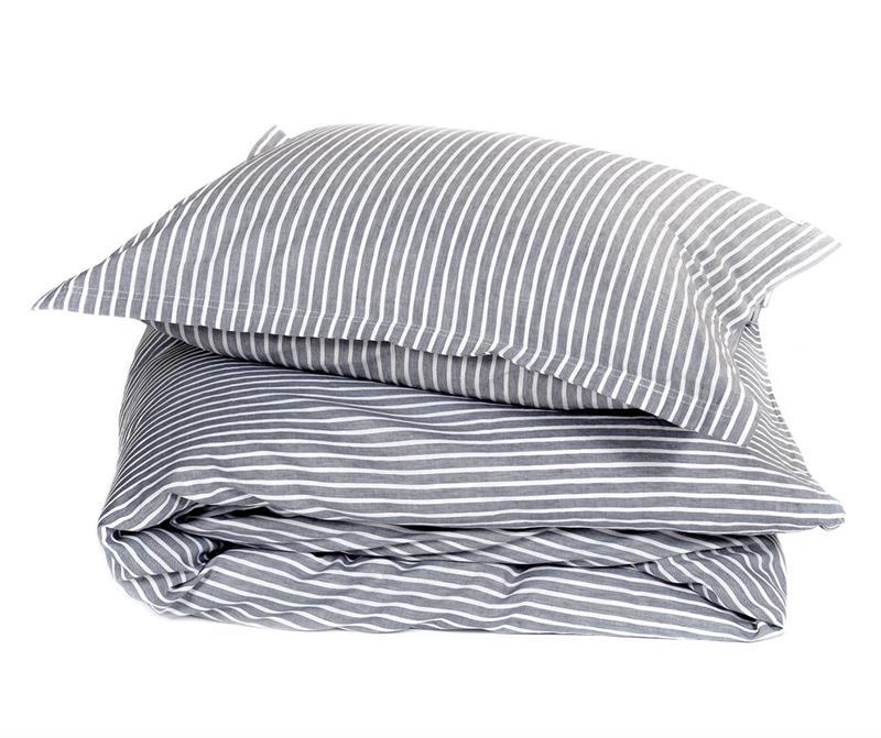 Classic stripe örngott 2-pack – Grey