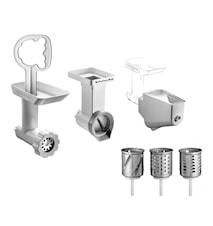 Tillbehörspaket till köksmaskin vit/stål