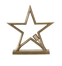 Metallstjerne Bord Råmessing 45cm