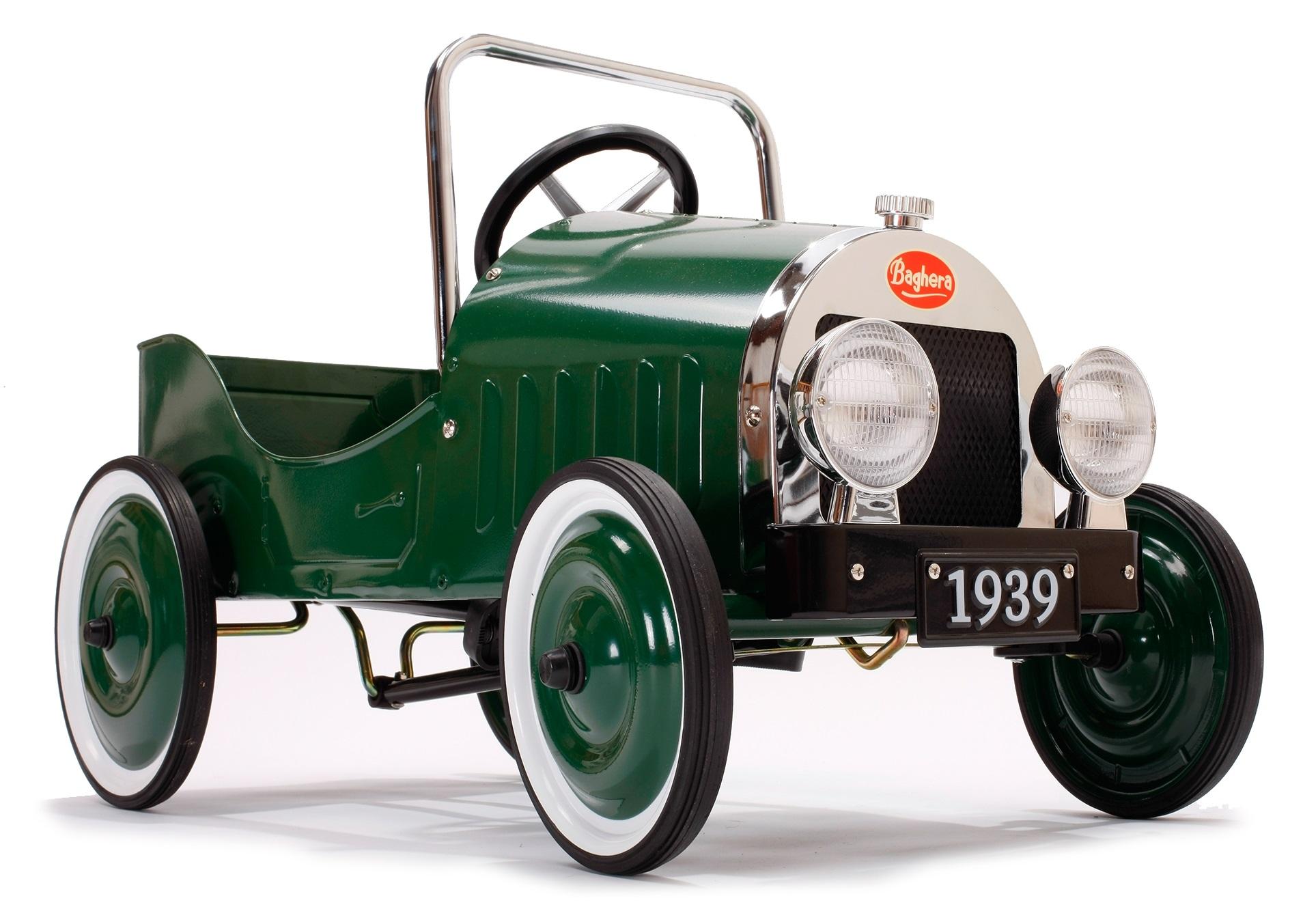 Classic green trampbil