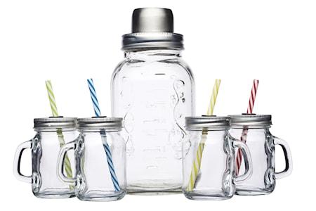 Bar Craft Cocktail Kit laseilla ja shakerilla 5 osaa