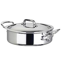 Cook Style Gryta Låg 5,5L blank stål