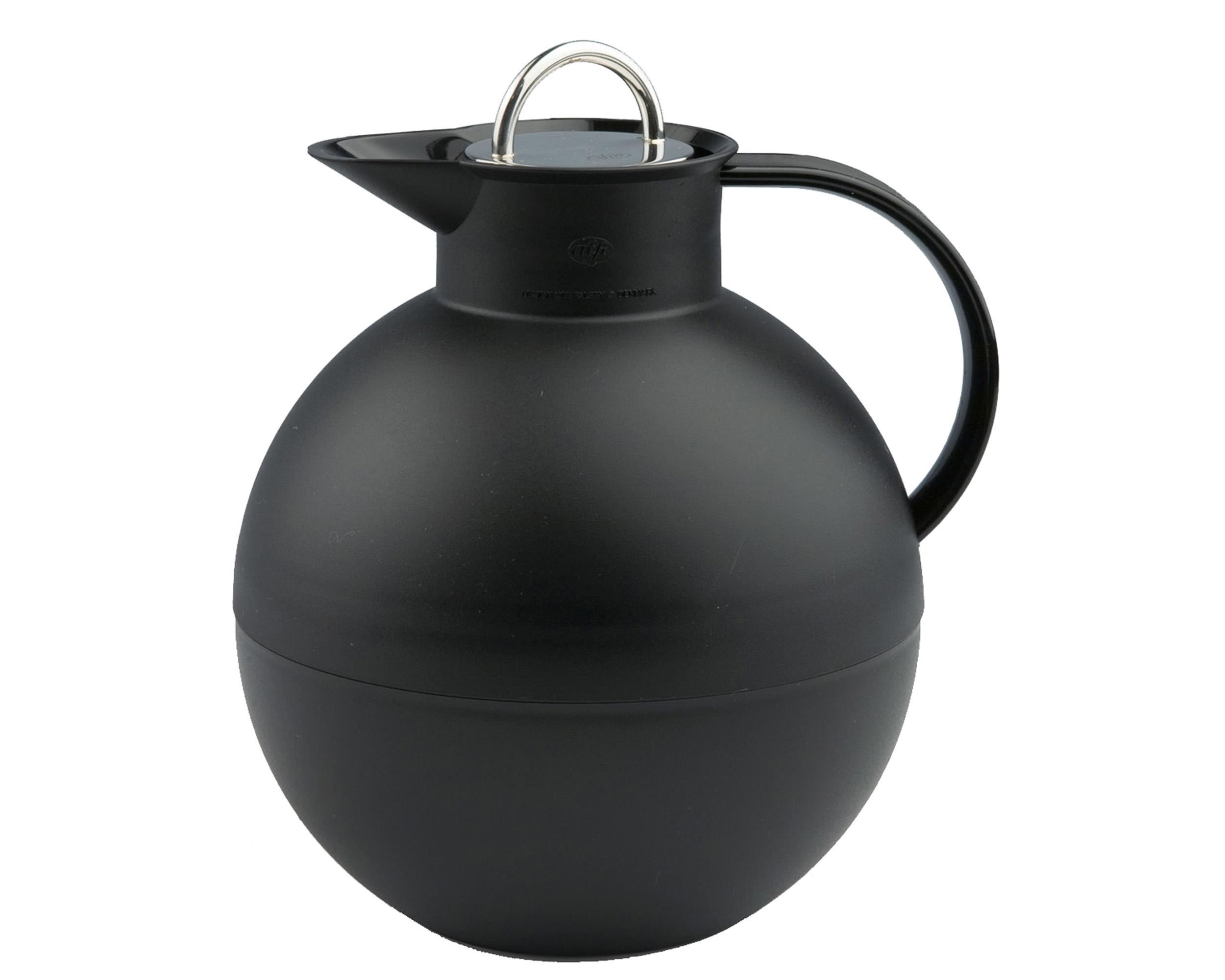 Kulan termoskanna frostad svart/blank stål 0,94 liter