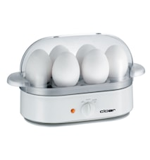Äggkokare för 6 ägg Vit