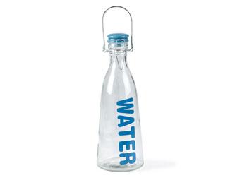 Flaska med lock 1liter Blå