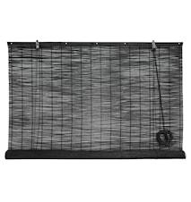 Rullegardin bambus 120x160 cm - Sort