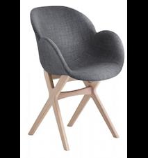 CASØ deluxe stol – Grått tyg, ekram