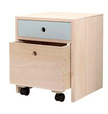 Sängbord Kejsarträ Blå 35x42x35 cm