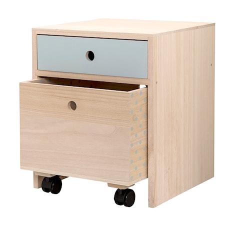 Bild av Bloomingville Sängbord Kejsarträ Blå 35x42x35 cm