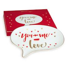 Shine Chat Plate YOU + ME = LOVE