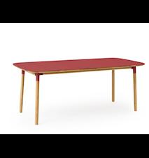 Form Bord Röd/Ek 95x200 cm
