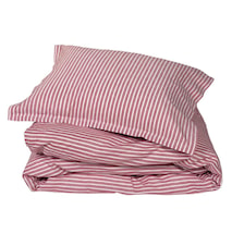 Classic stripe örngott 2-pack – Red