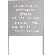 "ODLA Trädgårdspoesi ""Följ"", plåt"