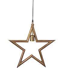 Metallstjärna Råmässing 35cm