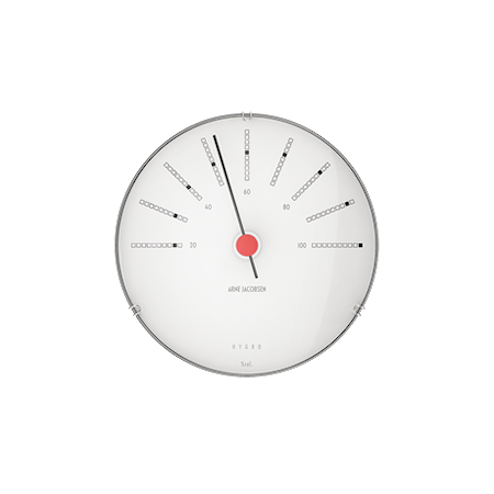 Bankers Hygrometer Ø12 cm vit/svart/röd