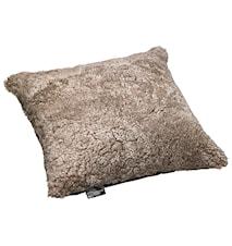 Ace Large Kudde fårskinn/ulltyg 50x50 - Cork/Black