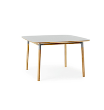 Form Bord Grå/Ek 120x120 cm
