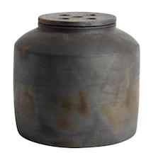 Kruka med lock Hazel Brun Terracotta 24x25 cm