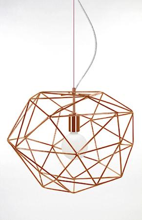 Bild av Globen Lighting Pendel Diamond Koppar