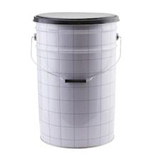 Oppbevaringskrakk The bucket Ø 30x46 cm - Hvit