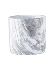 Krukke Sement/Marmor 14x13,5 cm
