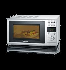 MW 7854 Mikro med Grill og LCD-Display Sølv