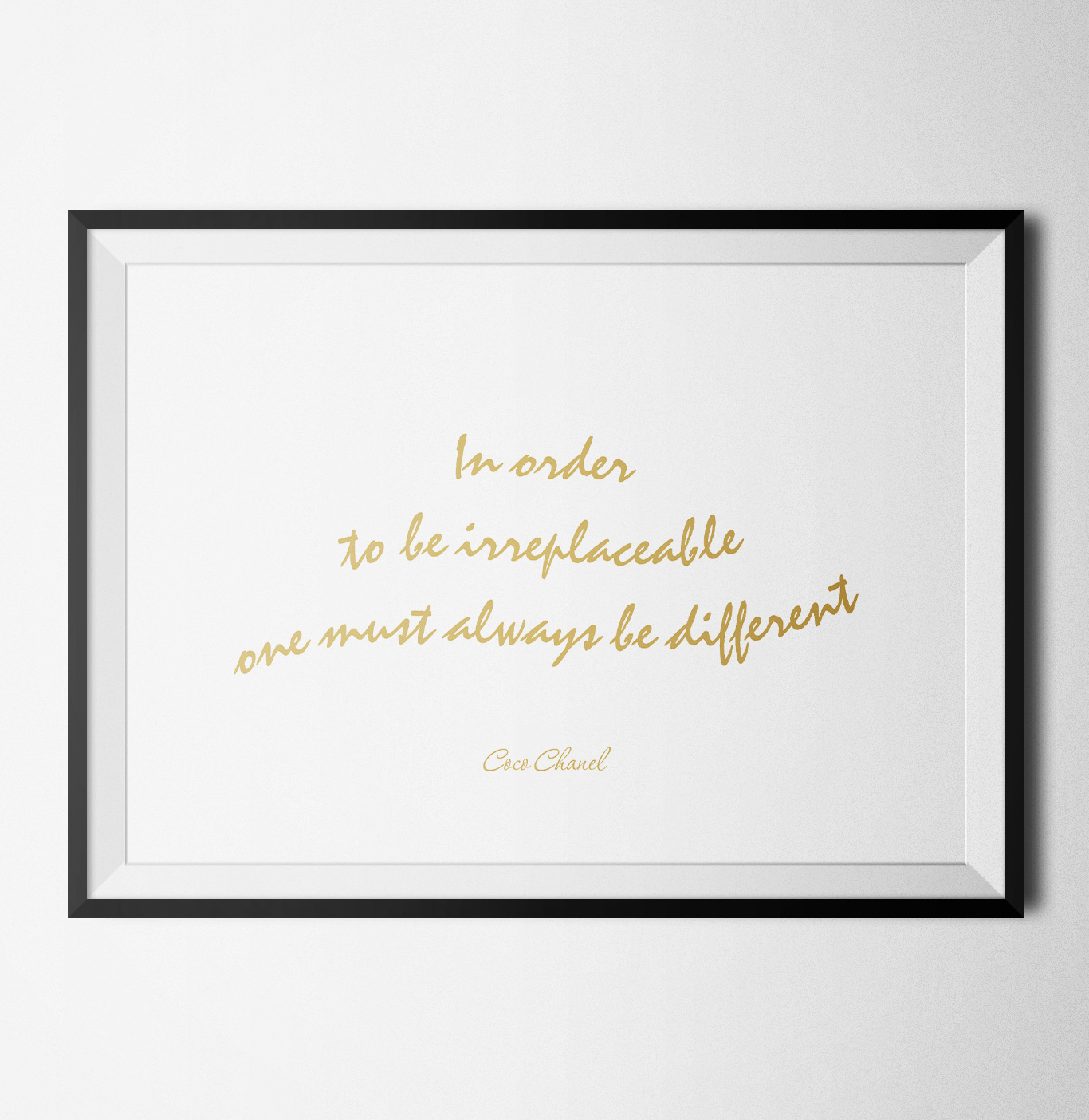 Fashion quote coco chanel poster