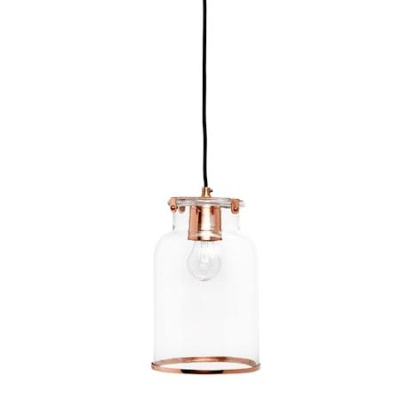 Hübsch Lampa pendel glas/ koppar. S
