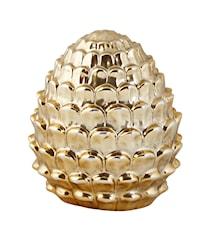 Figur Google Keramik Guld 11 cm