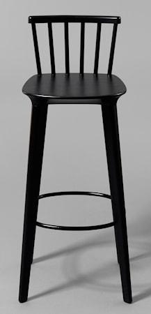 Bild av minus tio Jackie svart barstol – H65