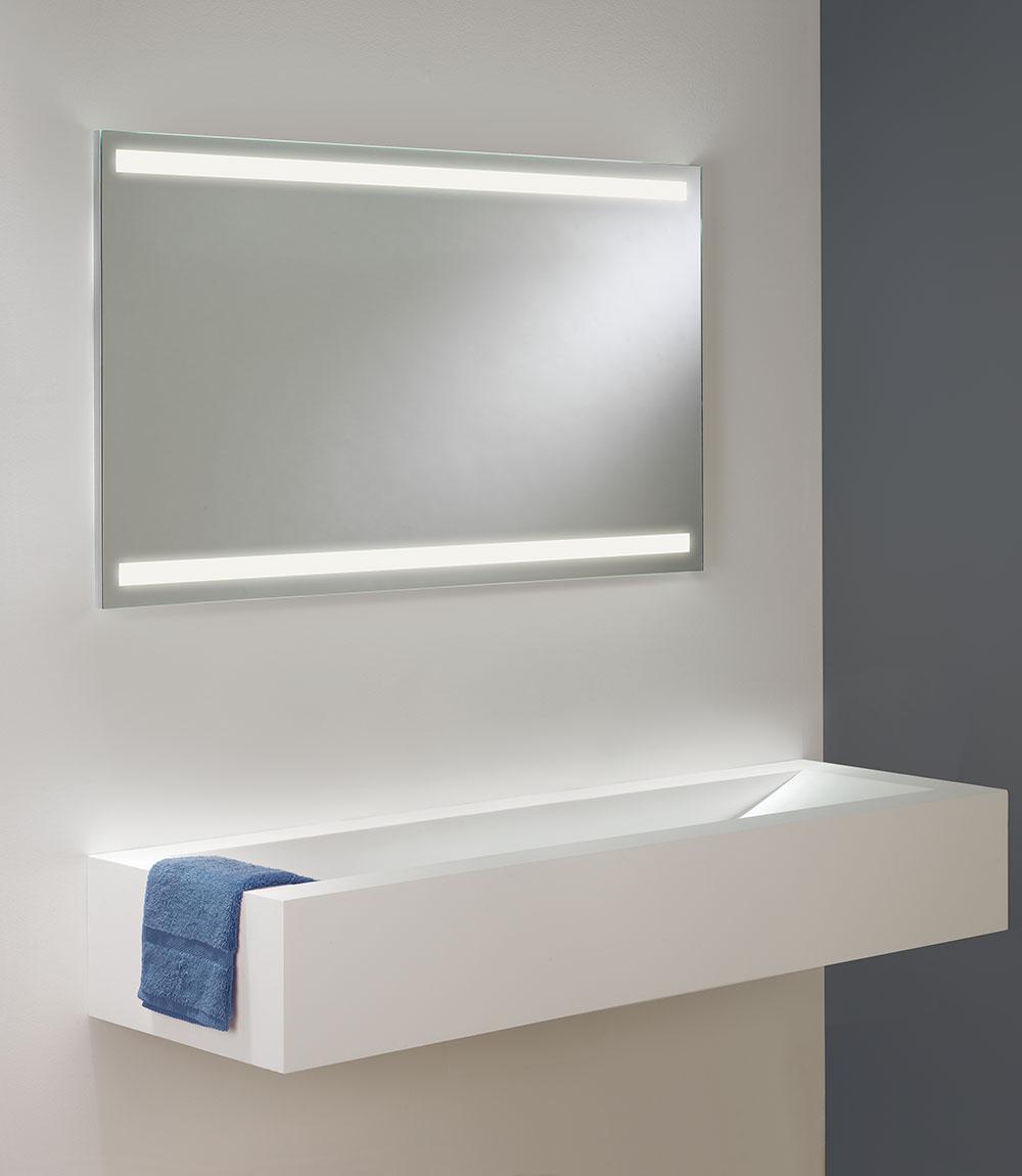 Avlon led spegel med belysning från astro hos confidentliving.se