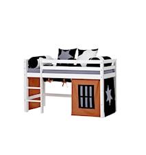 Basic loftsäng halvhög – Cowboy sängpaket