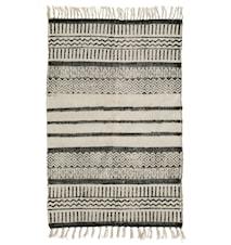 Teppe Canvas striper 75x150 cm - Svart