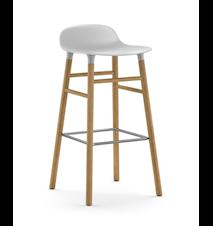 Form Barstol Grå/Eik 75 cm