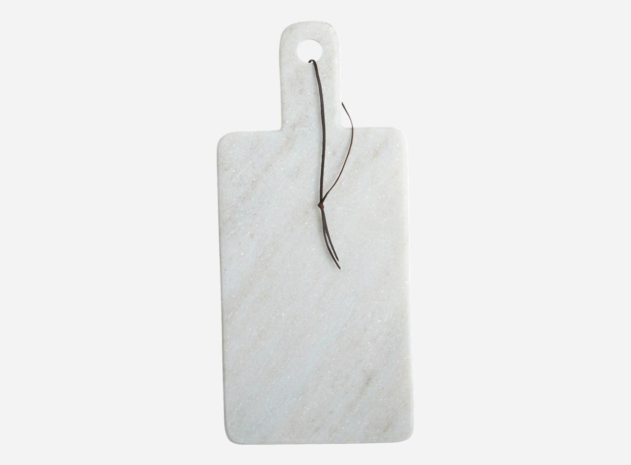 Bricka Marmor Vit 18x40 cm